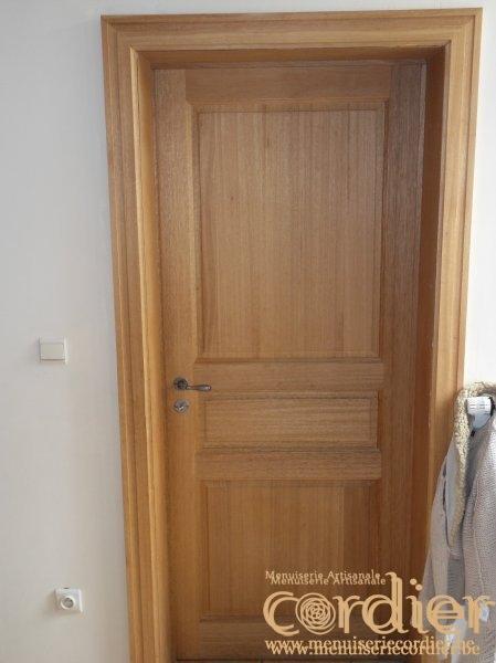 Portes d 39 int rieur menuiserie artisanale cordier for Menuiserie porte interieur
